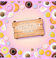 sweet morning template vector image vector image