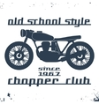 Vintage motorcycle stamp vector image