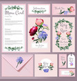 wedding cards floral cards invitation wedding vector image vector image
