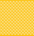 yellow geometric triangles pattern seamless vector image vector image