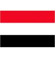 yemeni flag vector image vector image