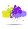 Green and violet color ink vector image