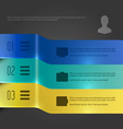Creative Infographic Banners Chart Diagram vector image