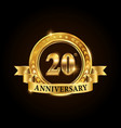 20 years anniversary celebration logotype vector image