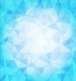 abstract poligon background in blue tones vector image vector image