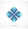 Abstract snowflake vector image vector image