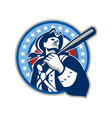 American Patriot Baseball Bat Retro vector image vector image