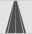 asphalt road in scale in perspective isolated on vector image