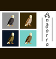 assembly of flat icons on theme of andorra eagle vector image vector image