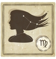 astrological sign - virgo vector image vector image