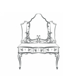 Baroque Royal luxury style furniture vector image vector image