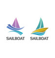 binary set of nautical sailboat logo symbol vector image vector image