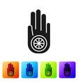 black symbol jainism or jain dharma icon vector image vector image