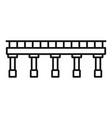 bridge icon outline style vector image vector image