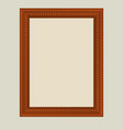 brown frame vector image