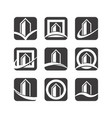 building logo icons vector image vector image