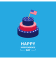 Cake and flag Independence day 4 of July vector image vector image