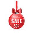christmas sale ball vector image vector image