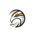 circle eagle sea hawk logo symbol vector image vector image