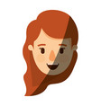 color image shading caricature front view face vector image vector image