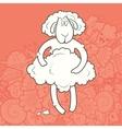 Cute Hand Drawn Sheep vector image vector image