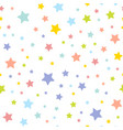cute seamless pattern with stars vector image