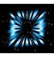 Dark Blue background with ray and star light vector image vector image