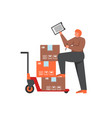 delivery stock flat style isolated vector image vector image