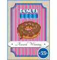 Donut poster vector image vector image