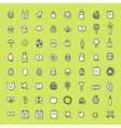 Easter icons hand drawn collection vector image vector image