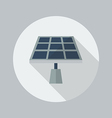 Eco Flat Icon Solar Panel vector image vector image