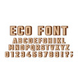 eco font vector image vector image
