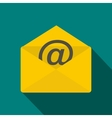 envelope with e mail sign icon flat style vector image vector image