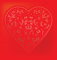 for st valentine s day heart vector image