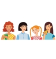 Four Cute Girls Friends vector image