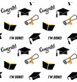 graduation seamless pattern black and golden vector image