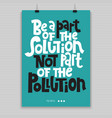 green phrases about ecology vector image vector image