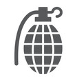 grenade glyph icon army and military hand bomb