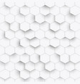 hexagon geometric white texture 3d paper vector image