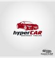 hyper car - auto speed logo vector image