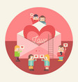 internet dating vector image vector image