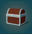 isometric wooden dower chest or pirate crate vector image vector image
