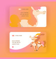 kids horse business-card cartoon pony vector image vector image