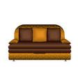 leather sofa icon cartoon style