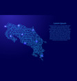 map costa rica from printed board chip and radio vector image vector image