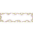 mardi gras beads colored frame isolated on white vector image vector image