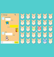 messenger dog stickers emoticons set web page vector image vector image