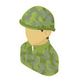 military man asian icon isometric 3d style vector image vector image