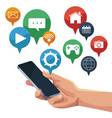 mobile smartphones app vector image vector image