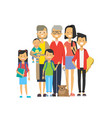 multi generation family together grandfather vector image